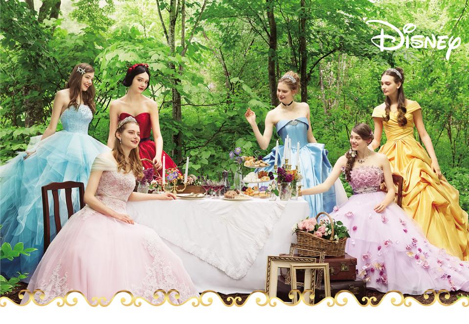 ディズニー ウェディングコレクションドレス集合写真
